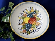 Tuscan Lemons Grapes Fruit Serving Bowl, Tuscan Lemon Grapes Fruit Bowl, Tuscany Bowl