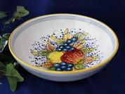 Tuscan Lemons Grapes Fruit Serving Bowl, Tuscan Lemon Grapes Fruit Bowl, Tuscany Bowl