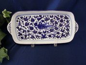 "Deruta Arabesco Blue & White 11"" Tray"