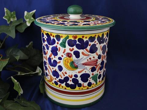 Deruta Arabesco Biscotti Jar