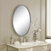 Sherise Beaded Oval Mirror