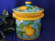 Sicilian Lemons Canister Biscotti Jar