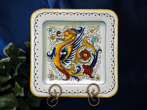 Deruta Raffaellesco Plate, Deruta Raffaellesco Square Plate
