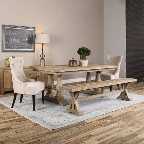 Reclaimed Wood Dining Table, Farmhouse Dining Table, Tuscan Farmhouse Dining Room Table