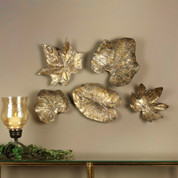 Bronze Leaves Wall Art, Tuscan Wall Art
