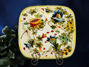 Tuscany Serving Platter, Tuscan Dragonfly Plate, Tuscany Fruit Plate, Toscano Fiore Frutta