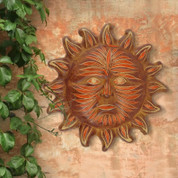 Clay Sun, Clay Sun Face, Sun Face Wall Decor, Tuscan Sun Wall Decor