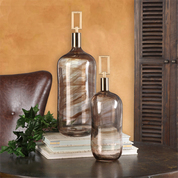 Tuscan Bottles, Tuscan Vase, Decorative Glass Bottles