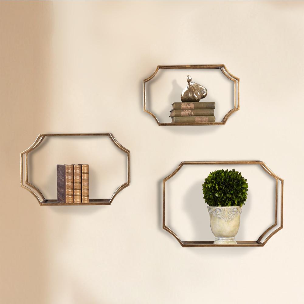 Open Frame Lindee Wall Shelves Set Of 3 Bellasoleilcom
