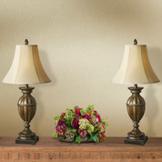Aged Dark Maple Lamps (Set of 2)