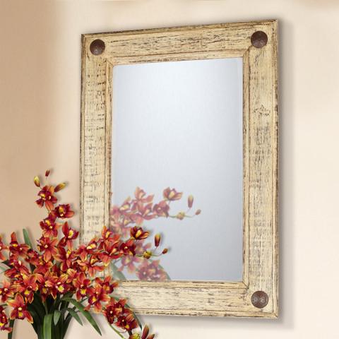 Tuscan Mirror, Reclaimed Wood Mirror, Tuscan Rustic Mirror