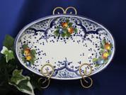 Tuscan Fruit Serving Dish, Tuscan Fruit Platter, Tuscan Fruit Serving Platter
