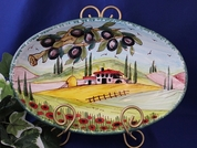 Tuscany Serving Dish, Tuscany Serving Platter, Tuscan Landscape Serving Dish