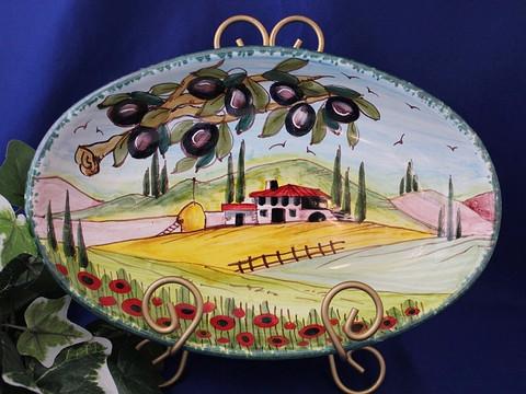 Tuscany Serving Dish, Tuscany Serving Platter, Tuscan Landscape Serving Dish