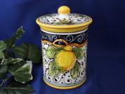 Tuscan Lemons Biscotti Jar, Tuscan Lemons Canister, Tuscany Biscotti Jar