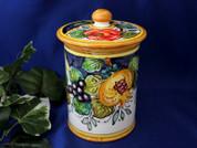 Tuscan Lemons Grapes Biscotti Jar, Tuscan Lemons Grapes Canister, Tuscany Biscotti Jar