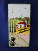 Italian Wall Tile, Tuscan Landscape, Tuscany Wall Tile, Italian First Stone