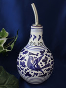 Deruta Arabesco Olive Oil Bottle, Deruta Olive Oil Bottle