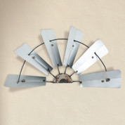 Windmill Wall Decor, Half Windmill Wall Decor, Metal Windmill Wall Decor, Half Windmill