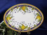 Italian Lemon Serving Platter, Deruta Lemon Serving Platter