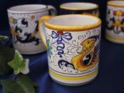 Deruta Raffaellesco Coffee Mug, Deruta Raffaellesco Coffee Cup