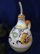 Deruta Raffaellesco Olive Oil Bottle, Deruta Raffaellesco
