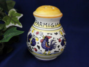 Deruta Orvieto Cheese Shaker, Gallo Rooster Cheese Shaker