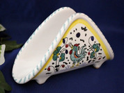 Gallo Rooster Napkin Holder, Deruta Orvieto Napkin Holder