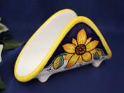 Deruta Napkin Holder, Tuscan Sunflower Napkin Holder