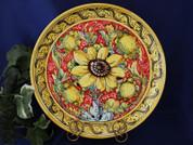 Tuscan Sunflower Serving Platter, Tuscan Sunflower Plate, Tuscan Sunflowers