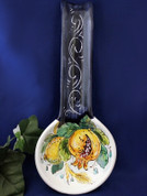 Italian Lemons Spoon Rest, Italian Fruit Spoon Rest, Melograno Spoon Rest