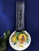 Italian Lemons Spoon Rest, Italian Fruit Spoon Rest, Melograno Spoon Rest