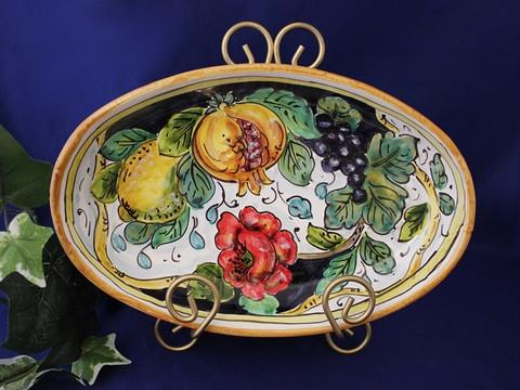 Tuscan Lemons Grapes Serving Dish, Tuscan Lemon Grapes Platter, Tuscan Lemons Serving Platter