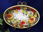 Tuscan Fruit Serving Dish, Tuscan Fruit Serving Platter