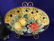 Tuscan Olives Lemons Fruit Serving Dish, Tuscan Olives Lemons Fruit Serving Platter