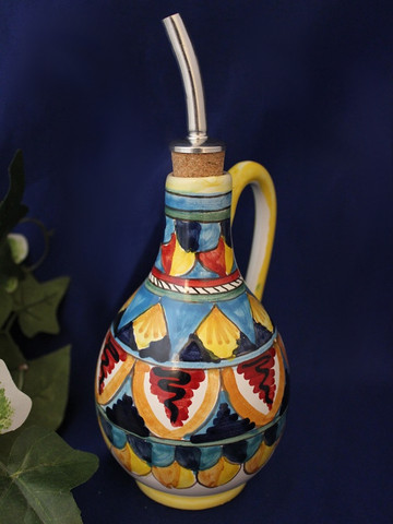 Geometrico Olive Oil Bottle, Deruta Geometrico