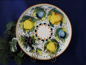 Tuscan Lemons Grapes Serving Platter, Tuscan Lemon Grapes Platter, Tuscan Fruit Plate