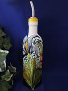 Tuscan Poppies Iris Olive Oil Bottle, Tuscany Olive Oil Bottle