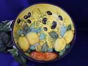 Tuscan Olives Lemons Fruit Serving Bowl, Tuscany Serving Bowl