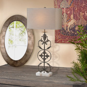 Tuscan Lamp, Tuscan Scroll Iron Lamp