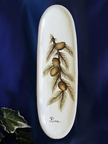 Pine Cone Italian Pottery Wall Plate