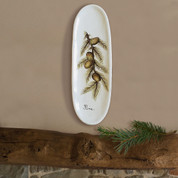 Pine Cone Italian Pottery Wall Plate