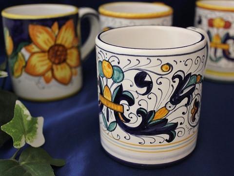Deruta Ricco Coffee Mug, Deruta Ricco Coffee Cup
