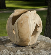 Teak Vase, Teak Bowl, Teak Wood Vase