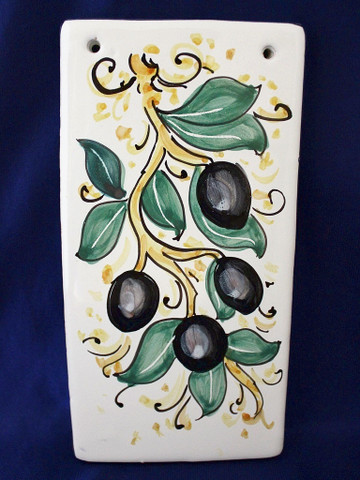 Italian Wall Tile, Tuscan Olives Wall Tile, Tuscan Lemons Fruit Wall Tile, Tuscany Wall Tile, Italian First Stone