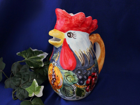 Italian Rooster Pitcher