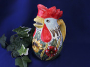 Tuscan Sunflower Rooster Pitcher ROI101-SUN