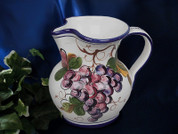 Italian Grapes Pitcher