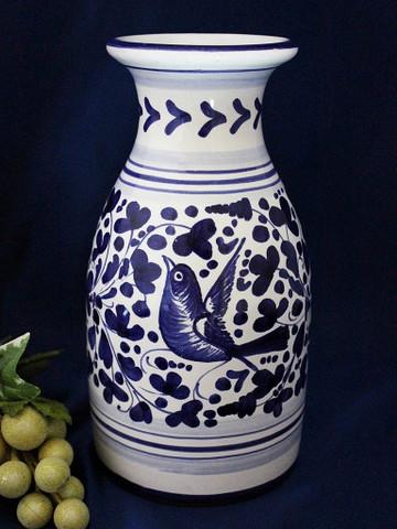 Italian Ceramic Wine Carafe, Deruta Arabesco Wine Carafe, Deruta Wine Carafe
