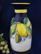 Italian Ceramic Wine Carafe, Deruta Lemon Wine Carafe, Deruta Wine Carafe